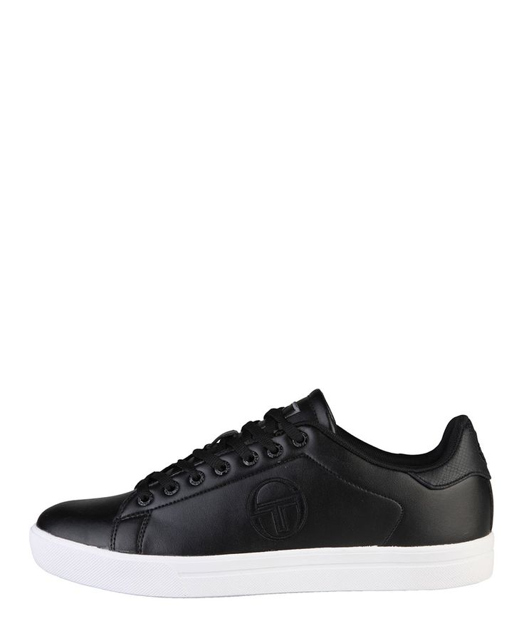 Sneakers low top lace-up, upper: eco-leather, cushioned insole fabric and rubber sole - inside: fabric - Sneaker men Black