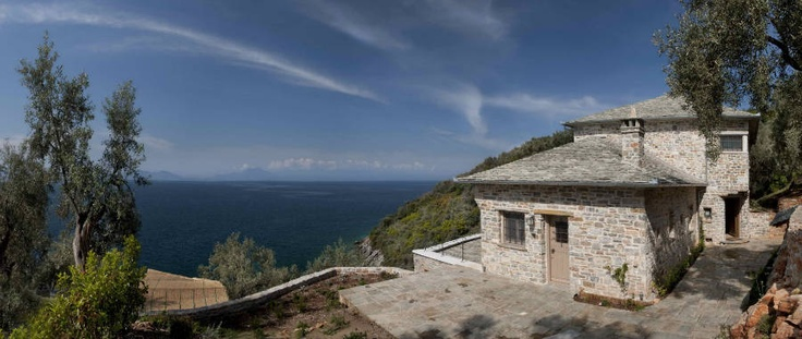 Mountain Stone House Lefokastro, Pelion, Greece by Dimitri Philippitzis