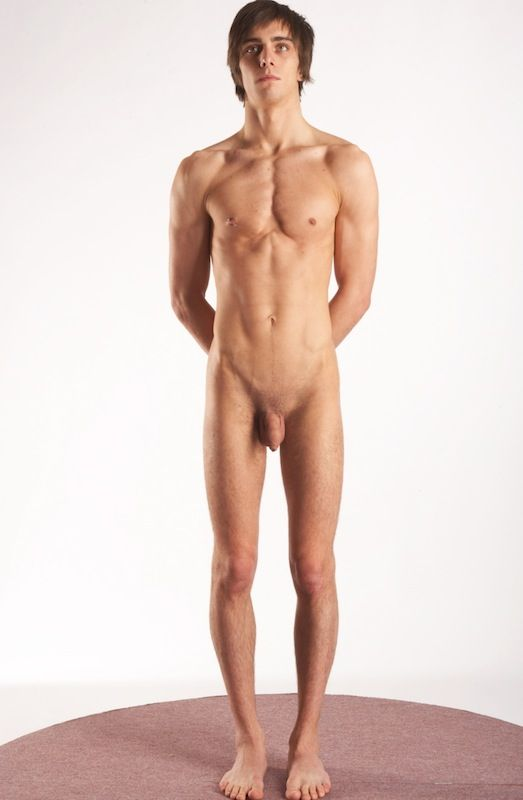 Nude male model full body something