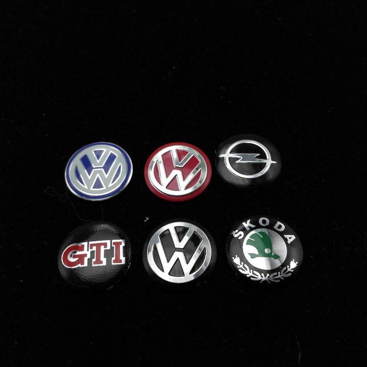 14mm tombol mobil tombol logo emblem stiker untuk volkswagen vw polo Passat B5 B6 B7 Tiguan Golf Jetta MK5 MK6 EOS Scirocco MK6