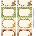 Woodland Animals Classroom Décor Bin Tag Labels and Signs - These sweet labels are great for decorating your classroom in forest animal theme. Use them as name tags or to label bins, lockers, book baskets an...