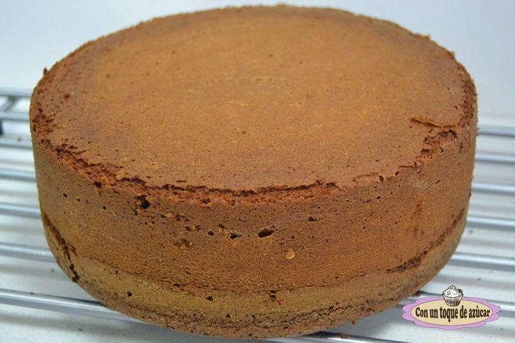 BIZCOCHO DE CHOCOLATE PARA TARTA FONDANT - Con un toque de azúcar