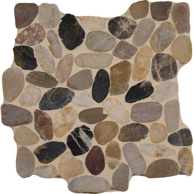 MSI Mix River Rock 12 In. X 12 In. X 10 Mm Tumbled Marble