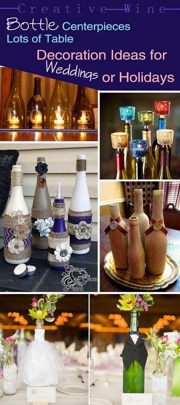 Creative Wine Bottle Centerpieces