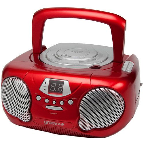 Portable CD Player with Radio - Red