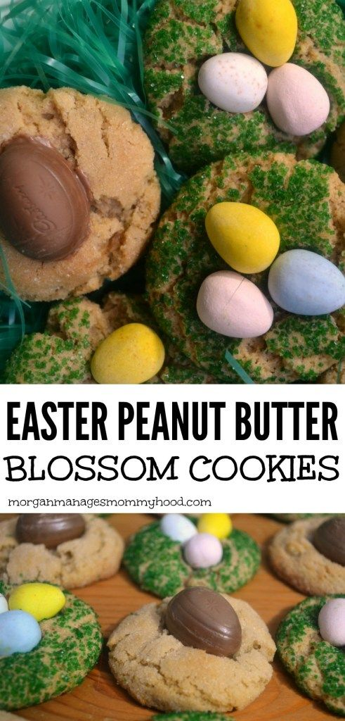 These adorable Easter peanut butter blossom cookies are the perfect addition to your Easter sweet spread, plus they're based off of your favorite peanut butter blossom cookie!