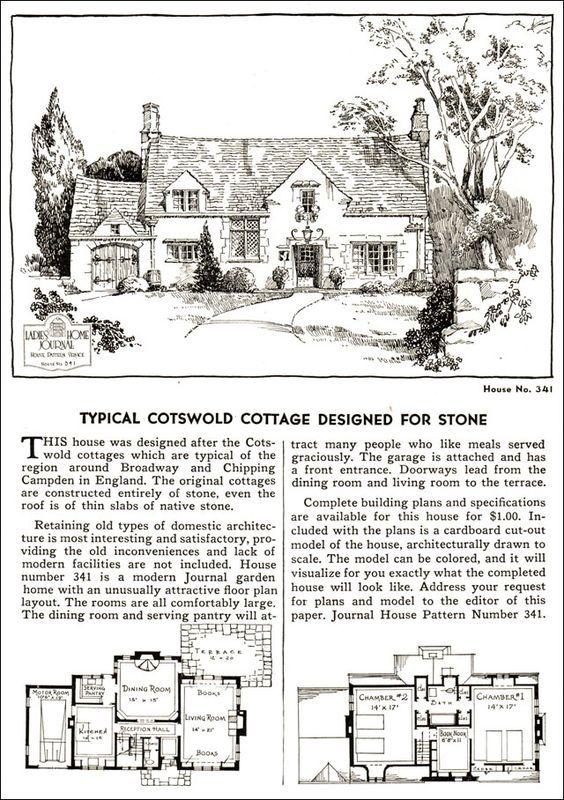 Design No. 341 1935 Ladies Home Journal House Pattern