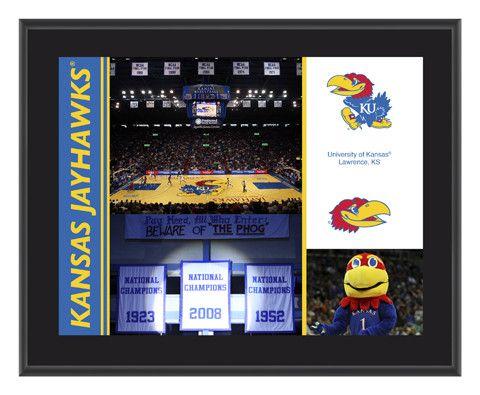 Kansas Jayhawks Sublimated 10 1/2 x 13 Plaque