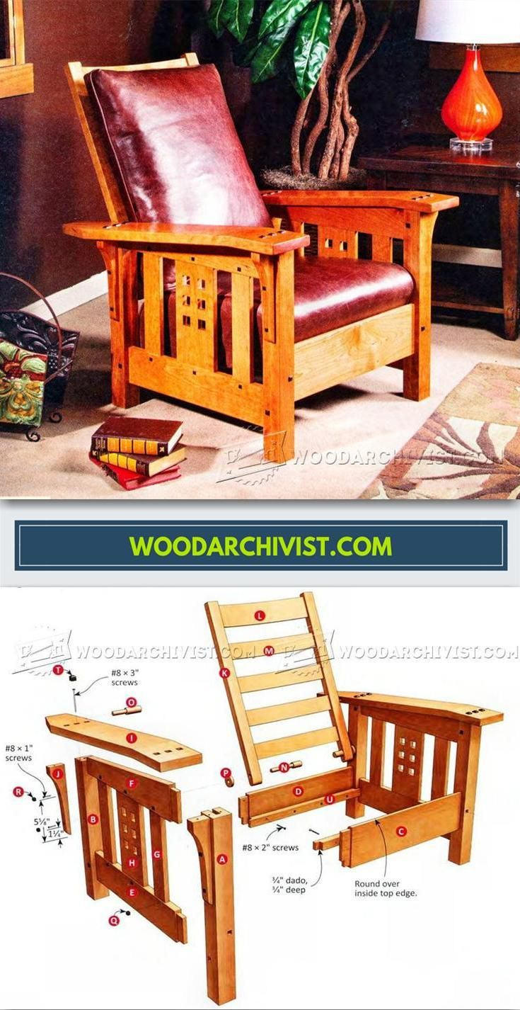 Modern Morris Chair Plans - Furniture Plans and Projects | WoodArchivist.com