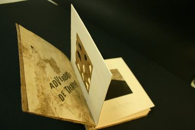 Arte y Grabado: ADVERBIOS DE TIEMPO - Libro de artista - XILOGRAFI...