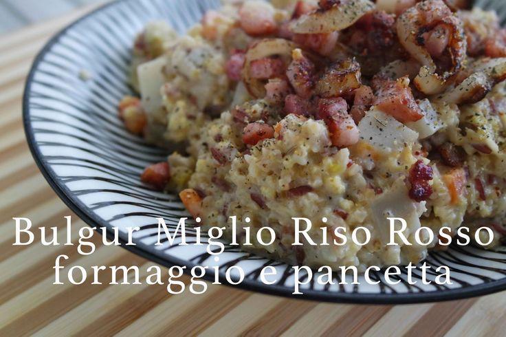 bulgur, miglio e riso rosso con verdure formaggio e pancetta | CasaSuper...