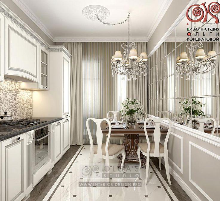 Дизайн белой кухни в стиле неоклассика http://interior-design.pro/ru/blog/sovremennaya-ideya-dizayna-kuhni-stolovoy.php