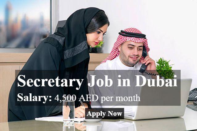 Secretary Job In Dubai Dubai Information Dubai Job Information