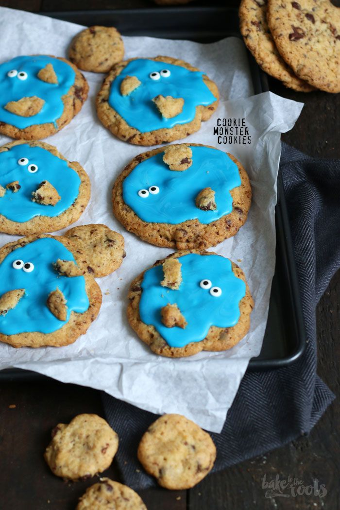 Cookie Monster Kekse | Bake to the roots