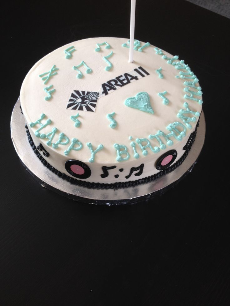 Area 11 (a music band) Happy Birthday Cake