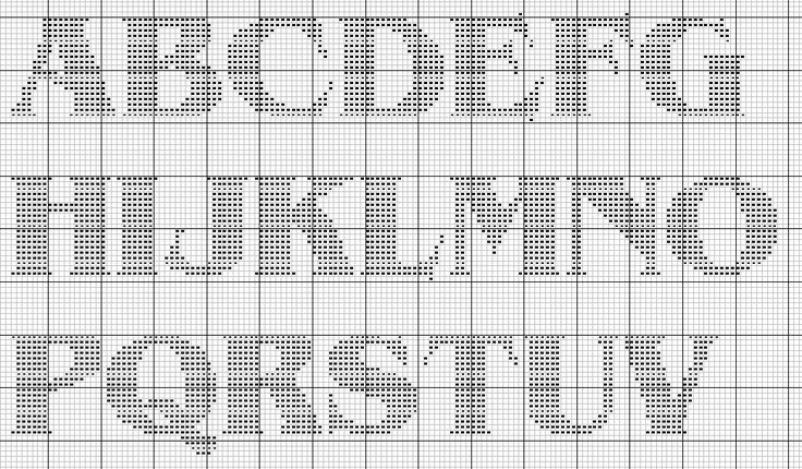 alphabet knit graph | Font, alphabet - free cross stitch patterns and charts - www.free ...
