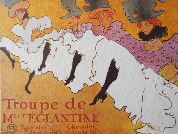 Melle Eglantine By Toulouse Lautrec Vintage Reproduction On