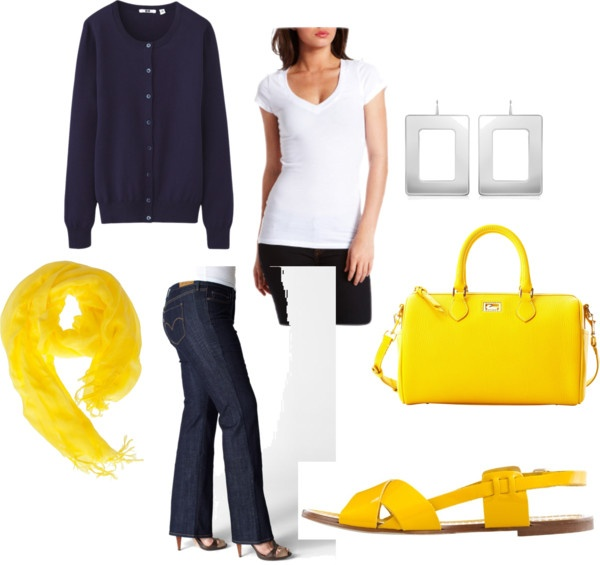 """""""I love bold yellow"""" by bethgholmes on Polyvore"""
