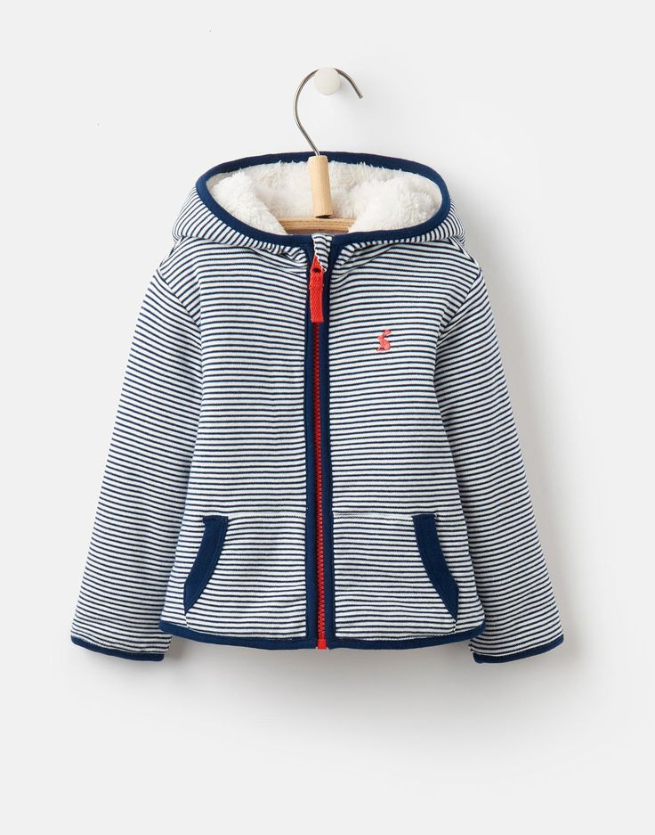 James Navy Stripe Reversible Fleece  | Joules UK