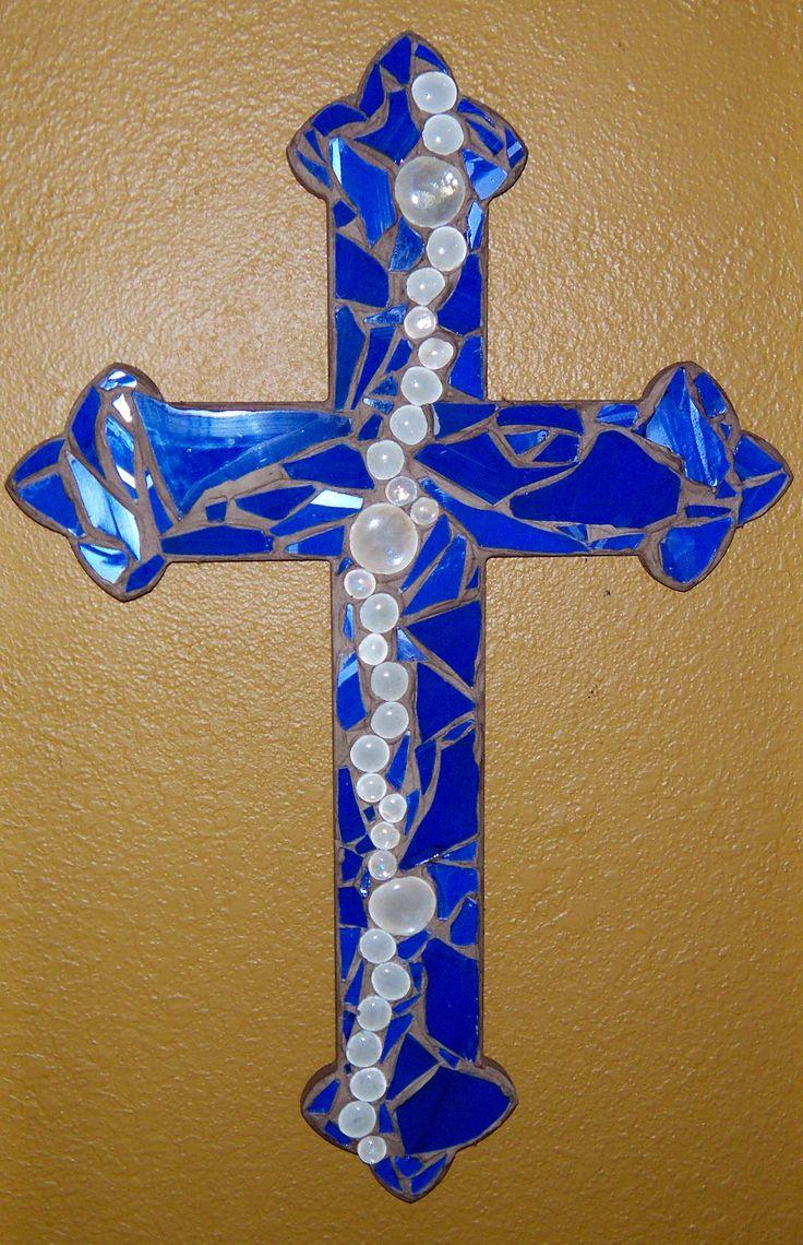 Besides cross clip art wall decor decorative wood cross decorative - Mosaic Royal Blue Cross Mosaic Crosseswall Crossesdecorative