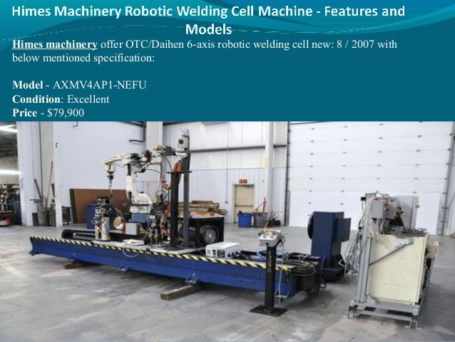 Himes machinery robotic welding cell machine features and models