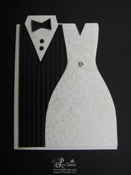 Bride & Groom card by ltschuch - Cards and Paper Crafts at Splitcoaststampers
