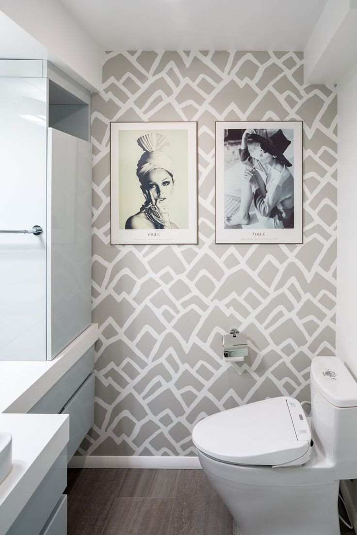 Design/Build by Vanillawood | Modern Contemporary | Bathroom | Wallpaper |