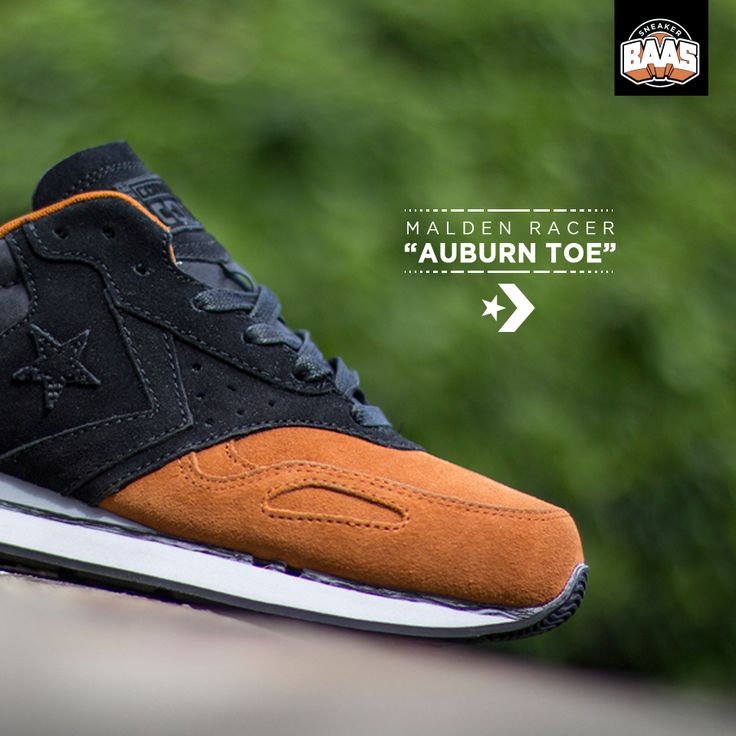 "Converse Malden Racer ""Auburn Toe""   Nu online!   http://bit.ly/1rXwlUf   #BAASBOVENBAAS #CONVERSE #AUBURN #BAAS"
