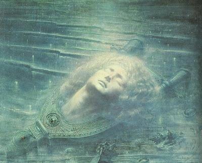 Jean Delville, La Mort d'Orphée, 1893, Musées royaux des Beaux-Arts de Belgique, Bruxelles.