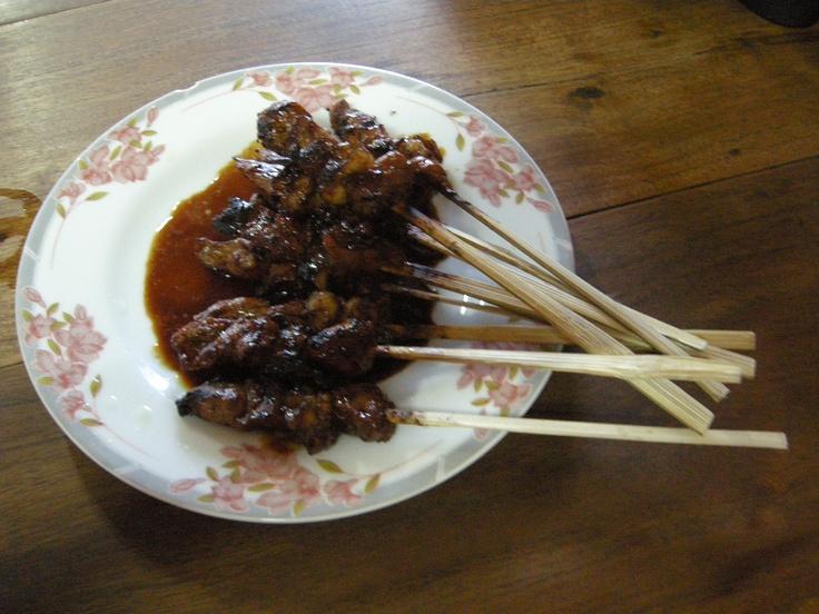 sate kambing - Indonesian food - by selmadisini 2009