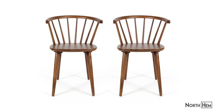 2 x Deauville Dining Chair | Brown Wooden Dining Chair
