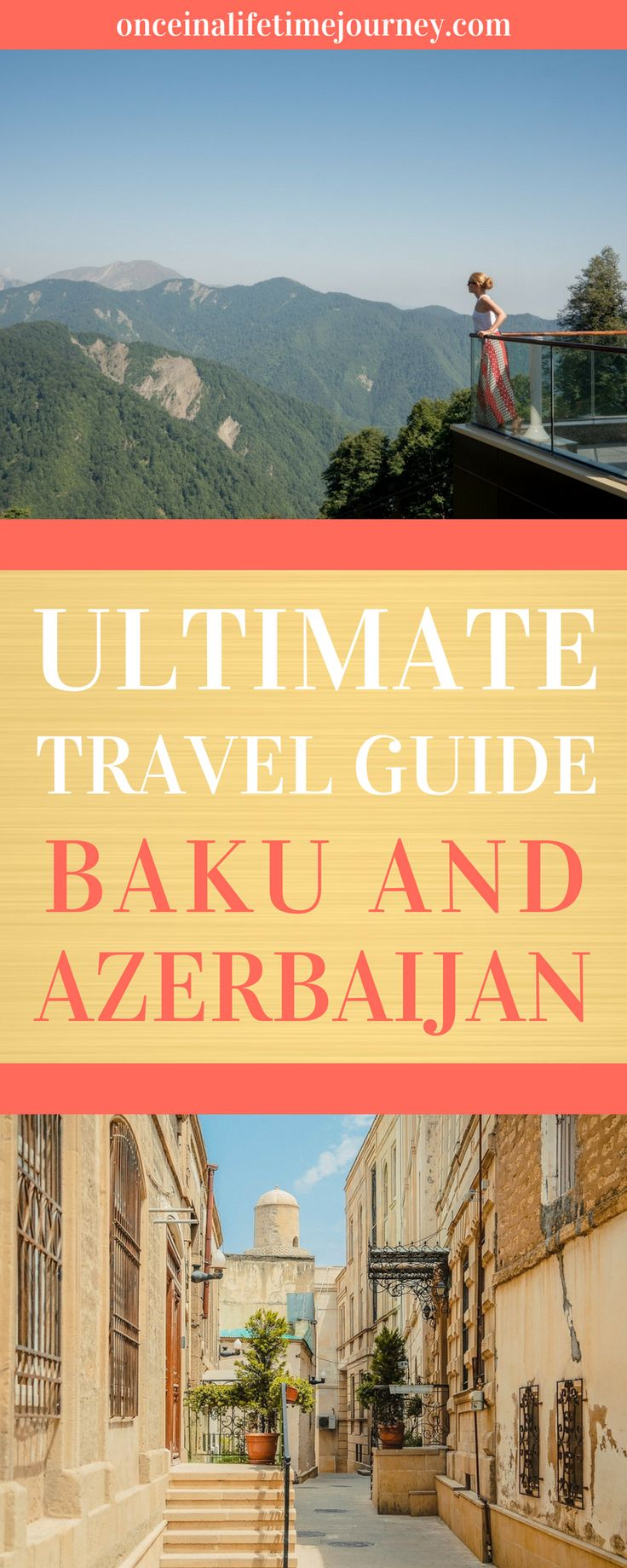 You may have never heard Azerbaijan before but I assure you that there is so much to see and do there. Click through to read my Ultimate Guide to the best places and activities in Baku and Azerbaijan - everything you need to know before going to Azerbaijan, from the best places to visit to the best restaurants, foods to try, sights and activities and even the best places to stay. | Once in a Lifetime Journey #azerbaijan #baku #offthebeatenpath