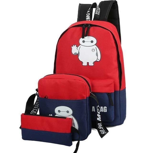 Brand Backpack Set girl Luminous Women Backpacks Nylon School Bags Fluorescence Backpack for Teenager Book Bag Mochila Light Bag