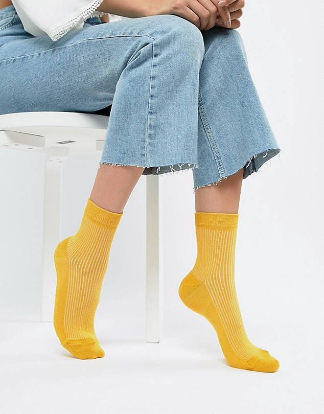 75d0bfae6 ASOS DESIGN plain ribbed ankle socks   SPRING 20 - SOCKS in 2019 ...