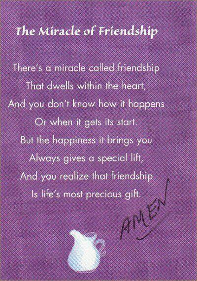 Friendship/ From Erika..