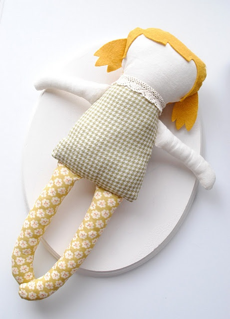 nice soft doll. Perfect pattern idea for a ragdoll