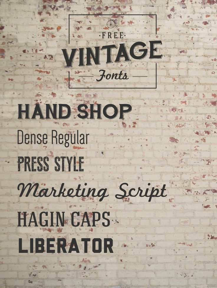 Font Must-Haves 004: Free Vintage Fonts | Jillianastasia