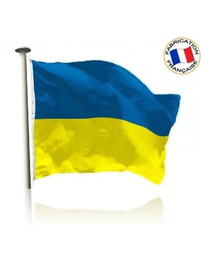 Drapeau Ukraine Made In France by Manufêtes