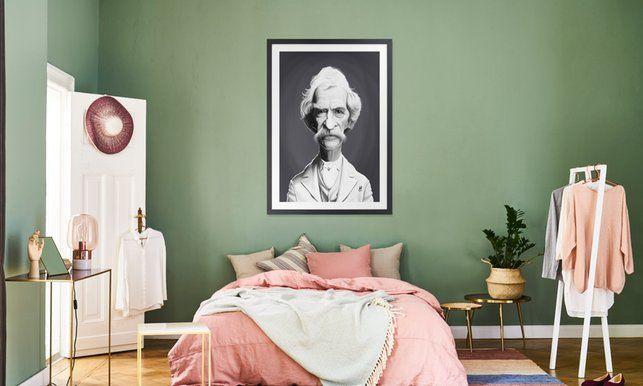 Mark Twain - Rob Snow | Creative - Poster in Wooden Frame art | decor | wall art | inspiration | caricature | home decor | idea | humor | gifts