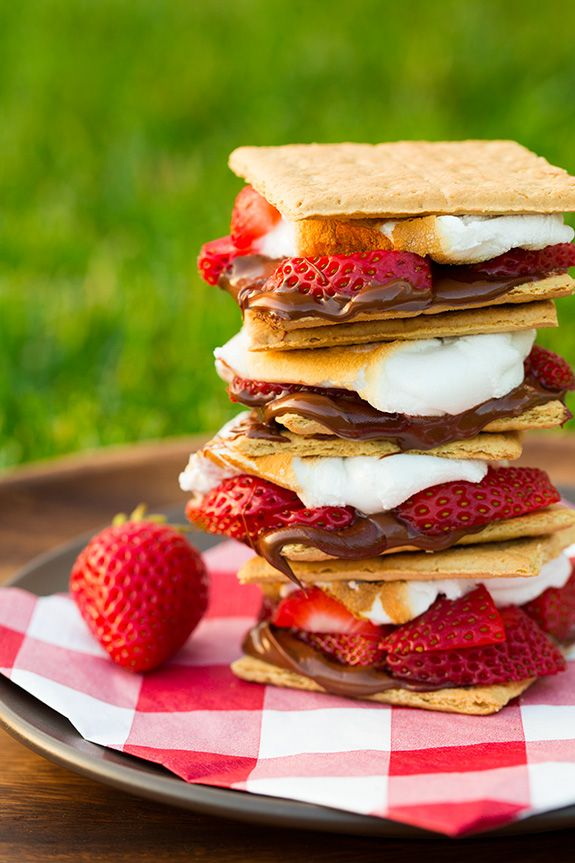 Chocolate Covered Strawberry S'mores + more s'mores ideas!