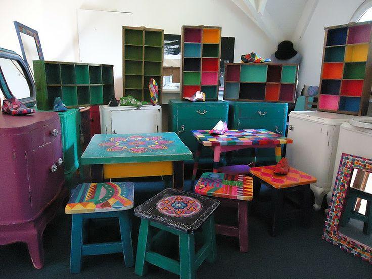 Muebles pintados a mano por vintouch painted tables and for Muebles pintados a mano