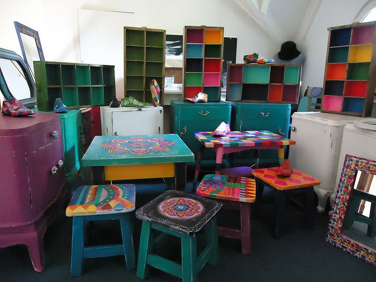 Muebles pintados a mano por vintouch vintouch - Muebles de mimbre pintados ...