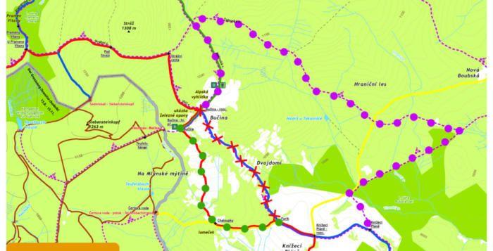 Datum uzavírky šumavské trasy Bučina rozcestí – Furik se mění