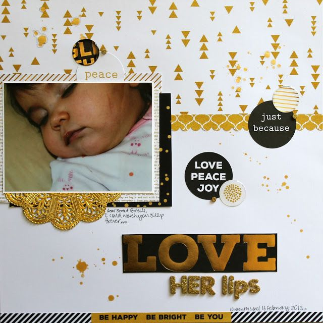 Scrapping Everyday Photos with Kaisercraft's A Touch of Gold - Melissa Vining