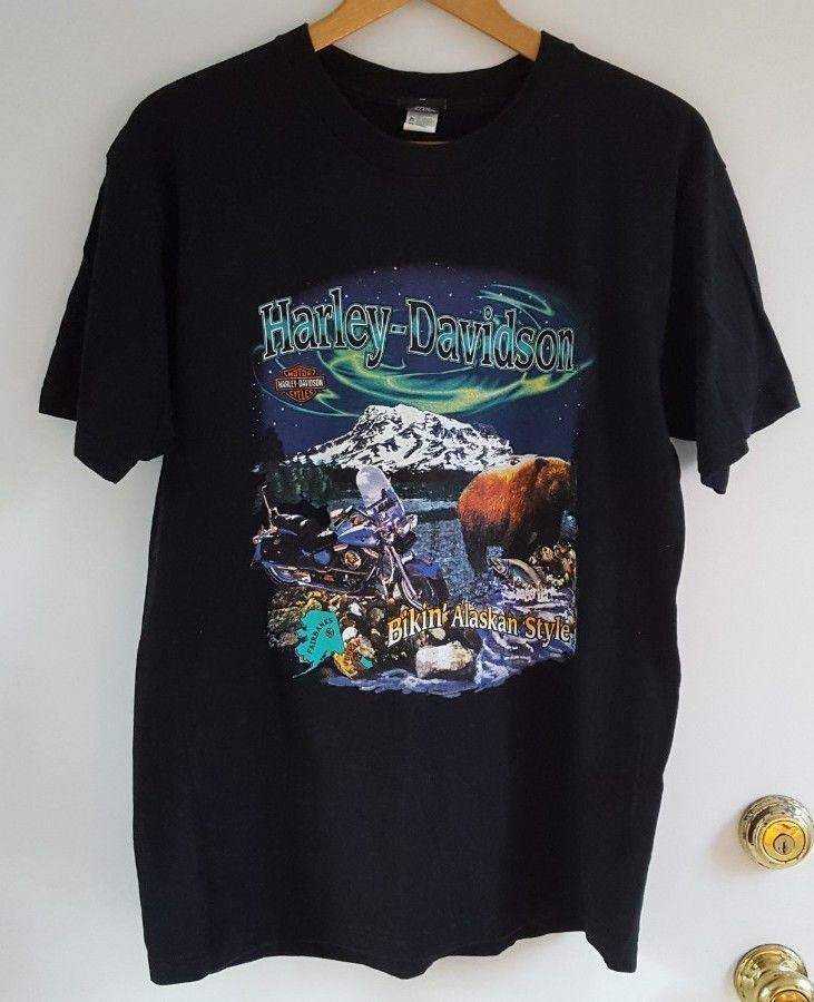 Taku Harley Davidson Juneau Alaska Bikin Alaskan Style T Shirt Men S Size Xl Vintage Tshirts Mens Tops Mens Tshirts