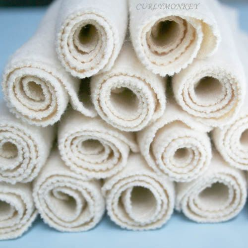 12 pk large organic hemp cloth baby wipes  long lasting & washable  eco by curlymonkey, $27.50