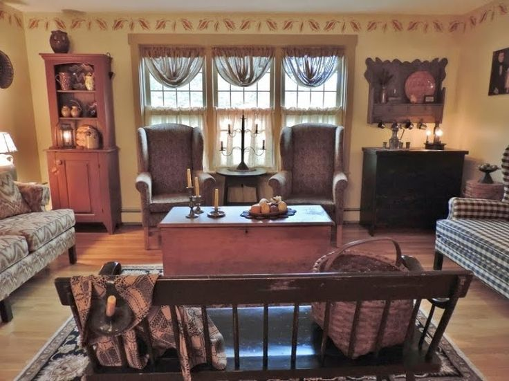 32 best images about colonial curtains on pinterest fall for Colonial living room decorating ideas