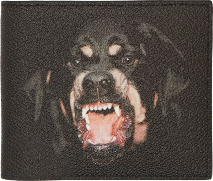 Black Rottweiler Bifold Wallet by Givenchy
