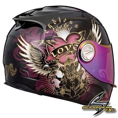 womens motorcycle helmet with pink sheld | ... 1100 PRECIOS BLACK PINK W/ SUNVISOR GIRLS SPORTBIKE MOTORCYCLE HELMET