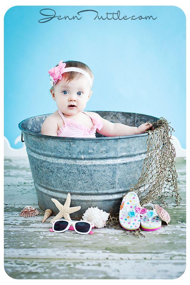 9 month baby wash tub bucket beach props